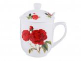 Чайный сервиз  Румба (кружка, ситечко, ложка, крышка), костяной фарфор