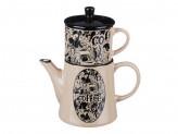 """Набор кофейный """"Эгоист"""", чашка 200мл, чайник 420мл, керамика"""