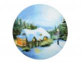 Рождественская сказка Блюдо круглое, 25см, стекло