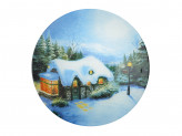 Рождественская сказка Салатник круглый, 23см, стекло