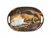 Аромат кофе Поднос овальный, пластик, 38, 5х27х3см