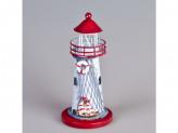 Сувенир под свечку маяк дерево/метал е1202а g-9