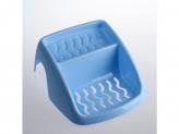 Мыльница на ванну голубой