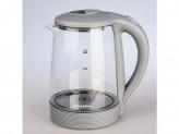 Чайник электрический, 2000вт, 1.8л, диск, термостойкое стекло  матрена ма-009 серый (005417)