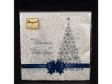 Салфетки нг подарок синяя лента 33х33 20л 2-х сл (пач.)
