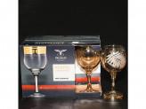Набор 6шт бокалы для вина папоротник цвет янтарь ec223-411/s