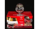 Набор 6шт бокалы для бренди барокко  ge63-188