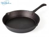 Сковорода 25 см чугун (2 слива) VETTA
