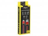 Кабель для зарядки Micro USB, 1м, 2А, тканевая оплетка, 3 цвета, коробка ПВХ
