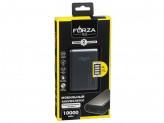 Аккумулятор мобильный , 10000 мАч, 2 USB, 2A, металлик, мягкий пластик