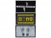 """Коврик придверный, резиновый с ворсом полиэстер """"След"""", 45x75см, 3 дизайна"""
