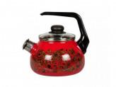 Чайник 2,0л (эмалированная сталь) со св вишневый [IMPERIO]