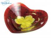 Набор салатников 3 шт стекло в форме Сердца