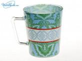 Кружка 380 мл для чая стекло Цветы