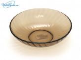 Тарелка 19 см суповая, дымчатое стекло
