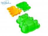 """Набор форм 9,5 x 9 x 3 см, силиконовые, 4 штуки, 4 цвета, """"Медвежонок"""" HS-044N, VETTA, 891G024"""