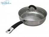 Сковорода 24 см с крышкой Шелборн TR-1502, индукция