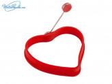 "Форма для яичницы  15 х 11,5 х 2 см, силиконовая, ""Сердце"" HS8802, VETTA 891G054"