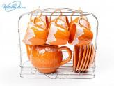 Набор 13 пр чайный на металлической подставке
