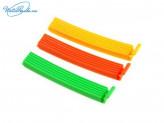 Набор 6 шт зажимов для пакетов, 10 см, пластик, 6 цветов