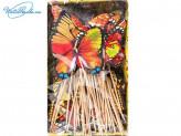 Канапе 100 шт по 15 см бабочки   46496