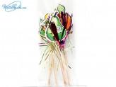 Канапе 10 шт по 15 см фрукт-пальма-аниме 72985