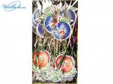 Канапе 100 шт по 15 см фрукт-пальма-аниме 46495