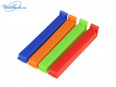 Набор 4 шт зажимов для пакетов, 11 см, 4 цвета, пластик