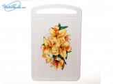 Доска разделочная  315х195 мм  Желтый цветок  70545