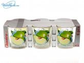 Набор 6 шт стаканов Яблоко зеленое  192