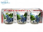 Набор 6 шт стаканов 250 мл Виноград  955