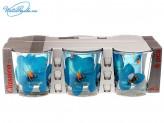 Набор 6 шт стаканов 250 мл  Орхидея синяя   181