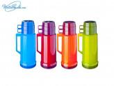 Термос 1,0 л стеклянная колба Tourist, 2 чашки, 4 цвета, VETTA, 841G644