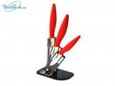 Набор 3 шт керамических ножей на акриловой подставке SATOSHI Sentaku