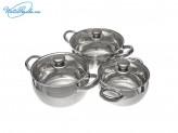 Набор кухонной посуды из  6 предметов с крышками.