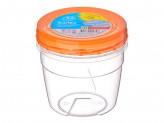 Банка 0,5 л для хранения продуктов пластиковая с завинчивающейся крышкой, ПБ432 Полимербыт, 867G047