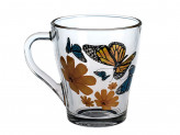 """Кружка Чайная Грация 250 мл. """"Бабочки с сердечками"""""""