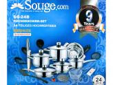 Набор посуды 24  предмета SOLIGE SC-24B