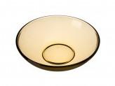 Тарелка глубокая 19см 'Базилико' дымчатое стекло