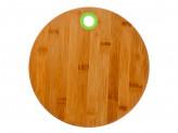 Доска разделочная, d25x1см, бамбук, силикон