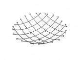 Ваза сервировочная из металлических прутьев, 33х33см