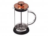 Френч-пресс 350мл, нержавеющая сталь, стекло, силиконовое основание, цвет розовое золото
