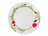Тарелка десертная опаловое стекло 176мм Дафна