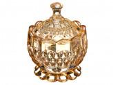 Конфетница, стекло, 11,5х8,5см, золотая Иллюзия