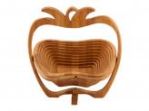 Доска разделочная бамбук трансформер в форме яблока, 30х27см