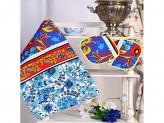 Набор кухонный 3 предмета (полотенце 40x75см, 2 прихватки 18x18см) вафельное полотно, 100% хлопок
