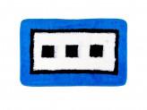 """Коврик для ванной, акрил, 50х80см, """"квадраты"""" синий,  VETTA"""