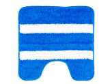 """Коврик для туалета, акрил, 50x50см, """"Морской-полосатый"""" синий,  VETTA"""