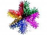 Гирлянда-подвеска 40см ПВХ, многоцвет, в виде снежинки
