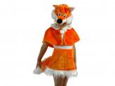 """Костюм карнавальный """"Лисичка"""" для девочки 4-7 лет, искуственный мех облегченный"""